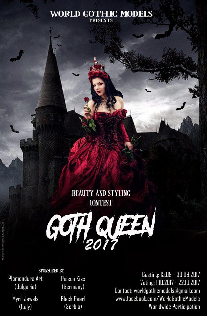 Gatto Nero Katzenkunst Goth Queen Poster 2017 World Gothic Models