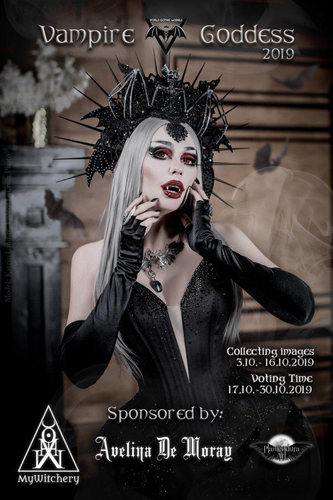 Vampire Goddess 2019 Contest Cover Katrin Lanfire World Gothic Models